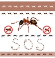 No ants in the house vector image