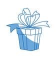 party gift box celebration birthday bow decoration vector image