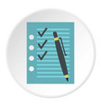 to do list icon circle vector image