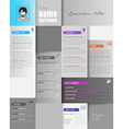 Creative resume template with place for your photo vector image vector image
