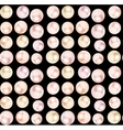 pearls seamless pattern on black background vector image