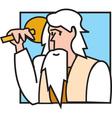 Noah cartoon vector image