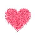glitter red heart vector image
