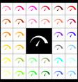 speedometer sign   felt-pen 33 vector image