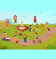 kids playing composition vector image