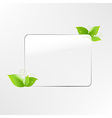 Glass Frame With Leaf vector image