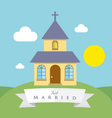 Chapel on the hill vector image vector image
