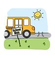 bus school design vector image