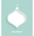 Christmas card with hanging toy vector image