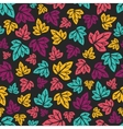 Grape leaves pattern Hand-drawn seamless pattern vector image