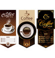 coffee templates vector image vector image