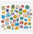 Mobile Apps Scrapbook Sticker Set vector image
