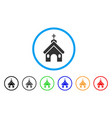 church rounded icon vector image