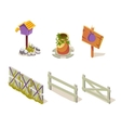 Farm Objects Simplified Cute Set vector image