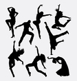 modern dance male and female silhouette vector image