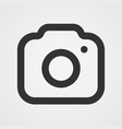 modern photo camera icon isolated icon vector image
