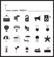 Travel Element Line Icon Set 4Beach and Sea vector image