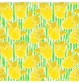 Vintage floral pattern with yellow tulips vector image