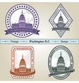 Vintage stamp Washington DC vector image