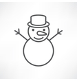 White snowman vector image