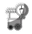soda fast food car icon vector image