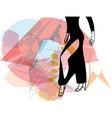 Abstract of Latino Dancing woman legs vector image