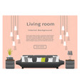 modern living room interior banner website vector image vector image