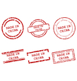 Made in China stamps vector image vector image