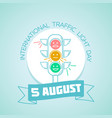5 august international traffic light day vector image