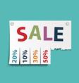 Advertising discounts Stock vector image vector image