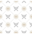 Seamless background with swords and crowns vector image vector image