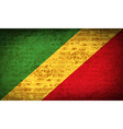 Flags Congo Republic with dirty paper texture vector image
