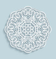paper lace doily cutout round pattern vector image