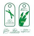 tags design label design fresh foods vegetable vector image