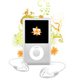 Ipod Floral Design vector image