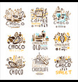 chocolate traditions colorful graphic design vector image