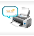 printer and text vector image vector image