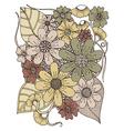 Drawing Flowers Retro Design vector image