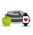 Gym and fitness lifestyle vector image