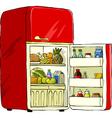 refrigerator vector image vector image