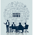 Business meeting with icon for Business concept vector image