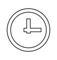 clock it is black icon vector image