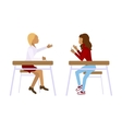 Concept of school students vector image