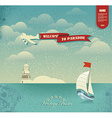 Enjoy the summer holidays Welcome to Paradise vector image