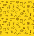 honey outline yellow icon seamless pattern vector image
