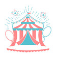 icon of the circus tent for logo vector image