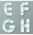 Modern Capital Letter Y vector image