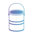 paint bucket in degraded purple to blue contour vector image