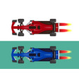 set of racing cars formula 1 vector image