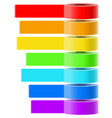 Selfadhesive tapes collection vector image vector image